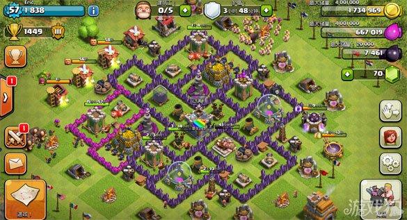 平时farm的阵型和部落战争的阵型如下1